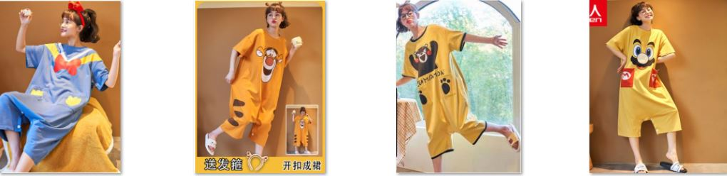 Những bộ mặc nhà kiểu Jumpsuit đáng yêu