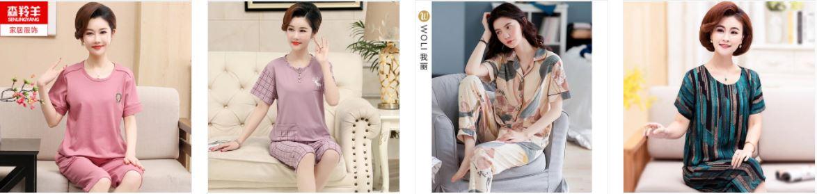 Bộ đồ ngủ cho phụ nữ trung niên thanh lịch giá rẻ