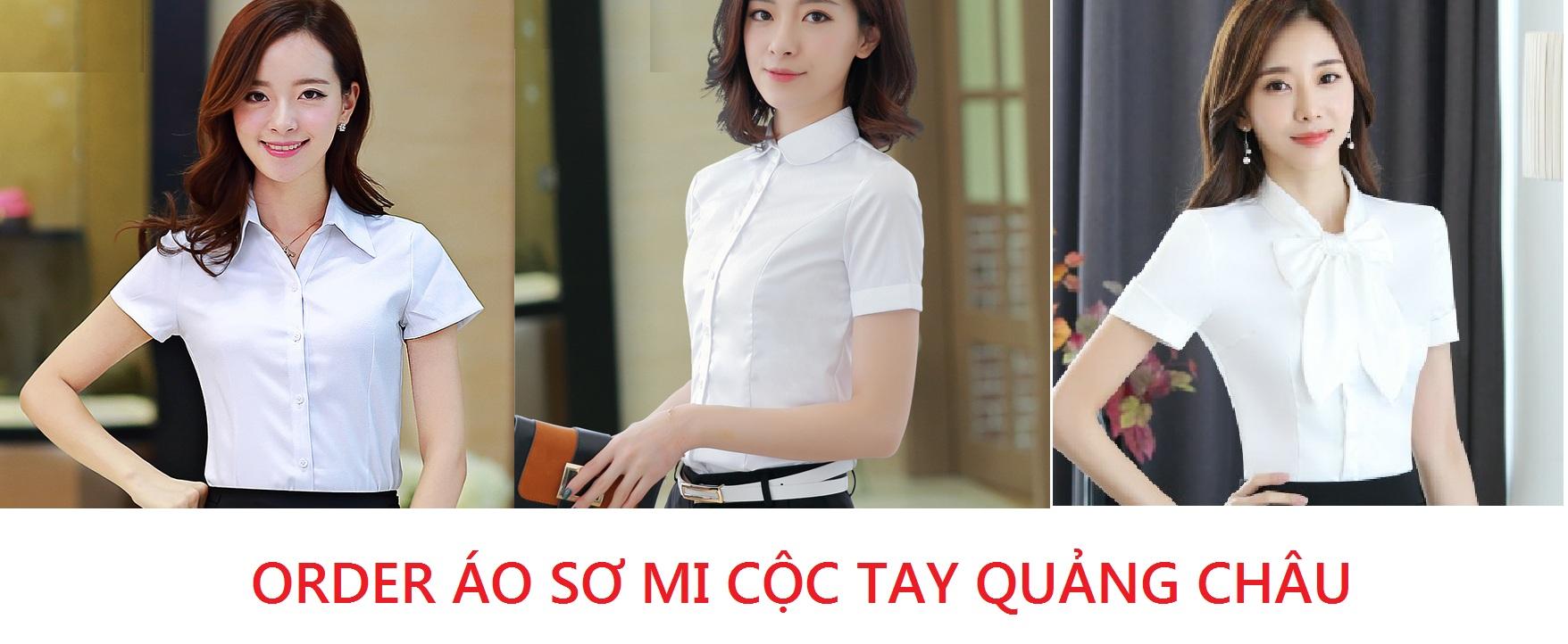 Order áo sơ mi cộc tay Quảng Châu mẫu mã đẹp trên Taobao