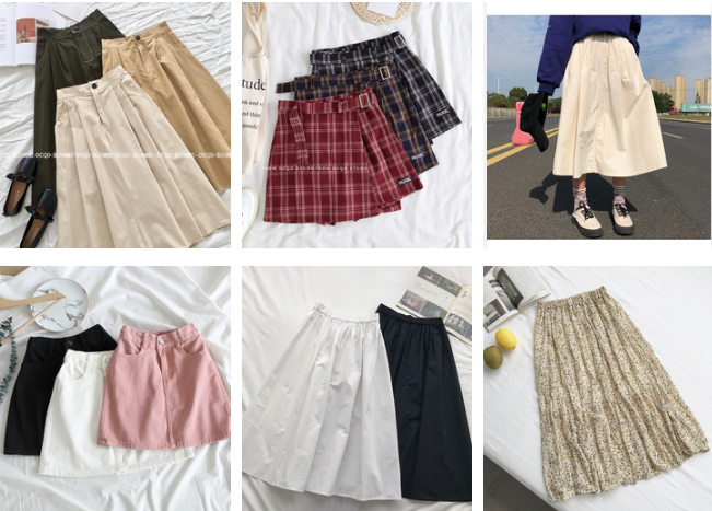 Order chân váy cho hè sành điệu (Part 1: Chân váy ngắn)