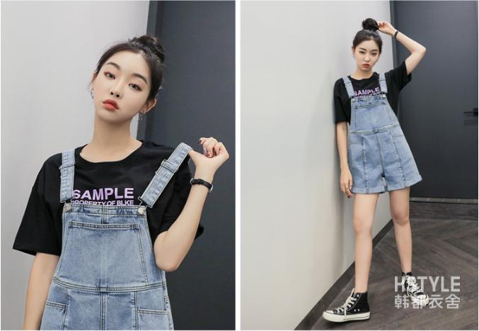 10 Mẫu quần yếm ngắn hot nhất Taobao hè 2019