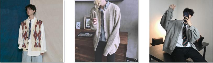 10 mẫu Cardigan nam Hàn Quốc đang hot trên Taobao