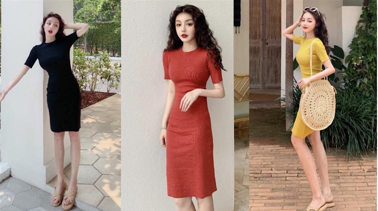 Order váy len nữ thu đông 2019