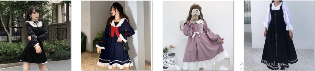 Những mẫu váy thu đông phong cách Nhật Bản đảm bảo đắt hàng