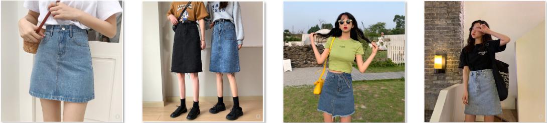 Order chân váy jean cực chất trên Taobao