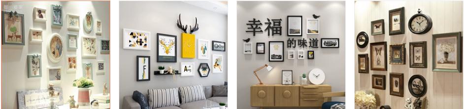 Order bộ khung ảnh treo tường từ Taobao