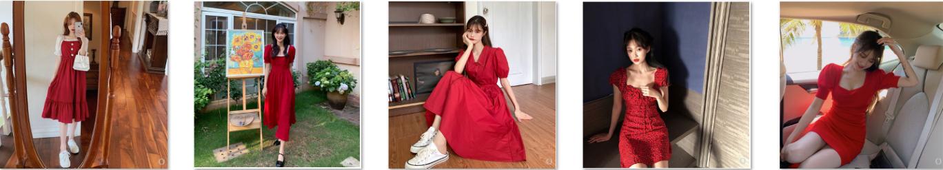 Những mẫu váy đẹp màu đỏ rực rỡ hè này
