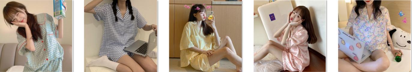 Điểm danh bộ pijama mùa hè dễ thương nhất
